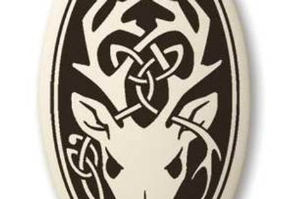 Stag: Oval Celtic Pendant