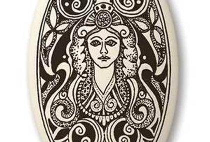 Brigantia: Oval Celtic Pendant