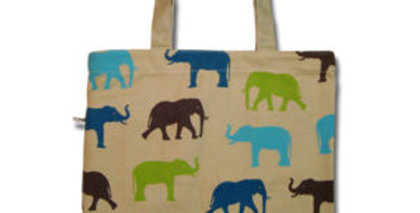 Canvas 4-Pocket Tote: Elefante