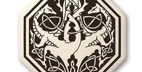 Dragon: Octagon Celtic Pendant