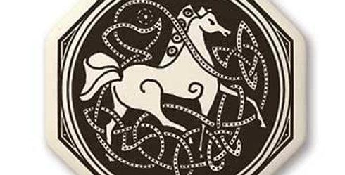 Horse: Round Celtic Pendant