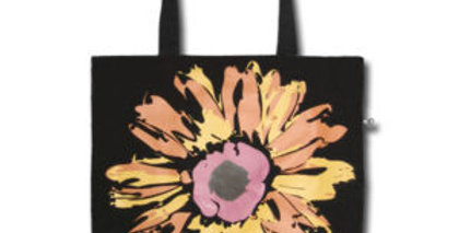 Canvas 4-Pocket Tote: Gerbera Daisy