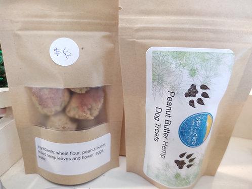 Peanut Butter Hemp Dog Treat Sample Pack - 6 Count