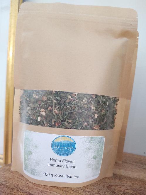 Hemp Flower Immunity Blend - 100g loose leaf tea
