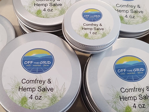 Comfrey & Hemp Salve - 4 oz