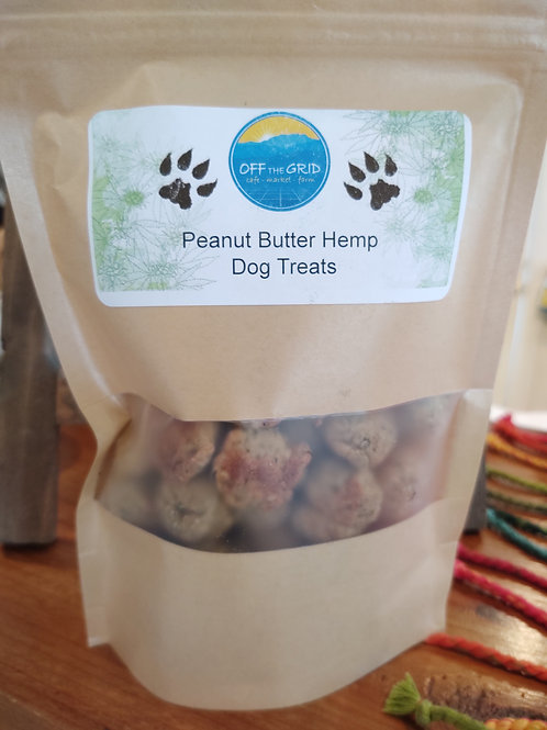 Peanut Butter Hemp Dog Treats - 45 Count