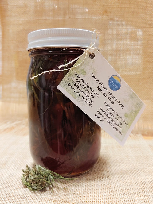 Hemp Flower Infused Honey - 16 oz