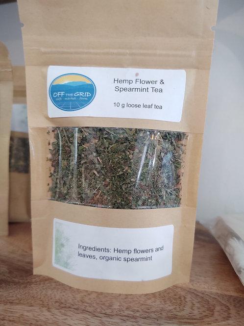 Hemp Flower & Spearmint - 10g loose leaf tea