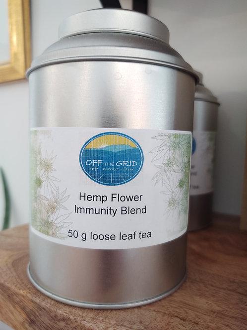 Hemp Flower Immunity Blend Tin - 50 g loose leaf tea