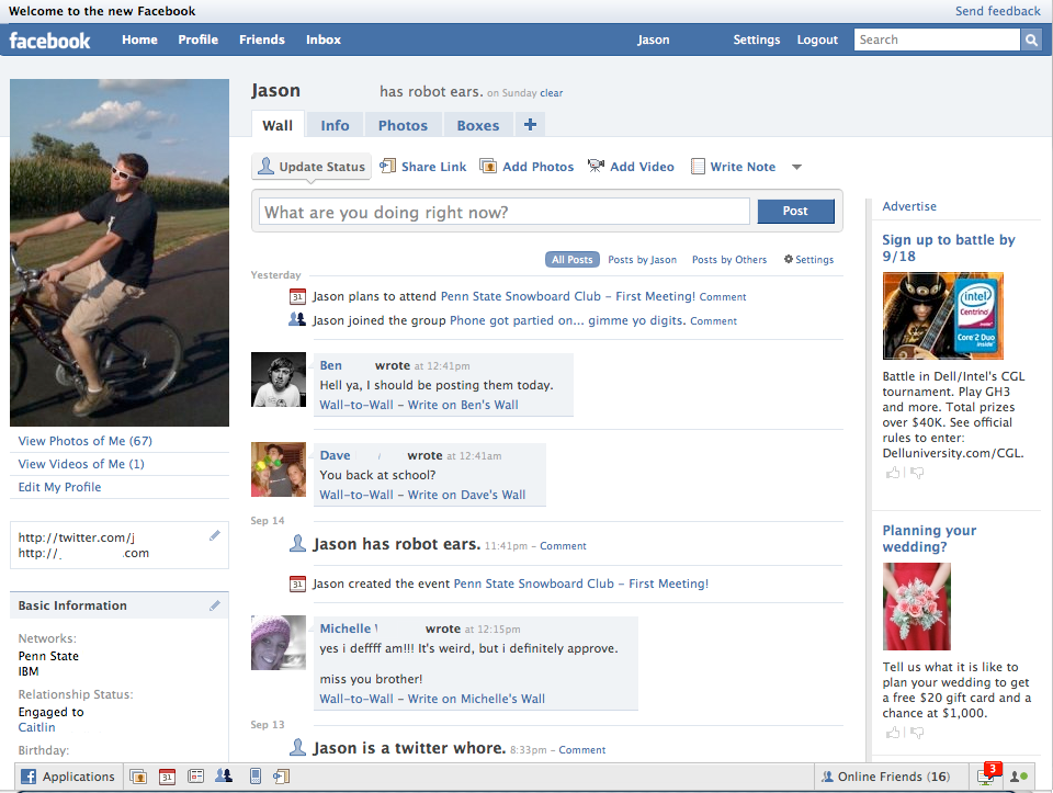 Facebook, Information, Who I am, Getting to know me, Facebook Profile, Facebook Wall, Social Media, SM