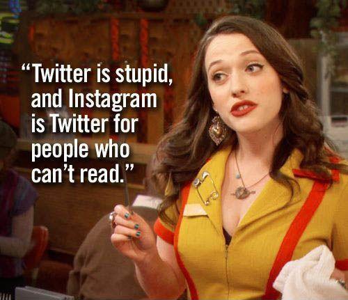 Twitter, Instagram Banter, Jokes, Bad Jokes, Social Media, what is twitter?, is twitter funny?, funny, comedy, two broke girls