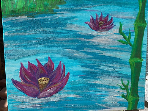 Two Lotus- by Nieva Pearl