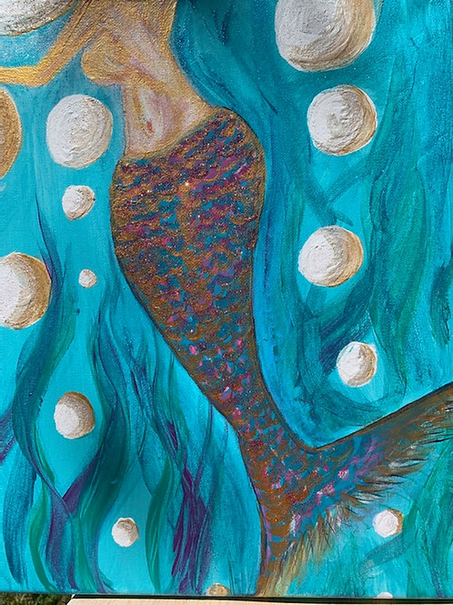 Mermaid Bubbles- by Nieva Pearl