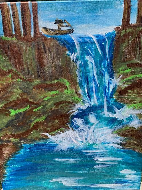 Waterfall Kayak- by Nieva Pearl