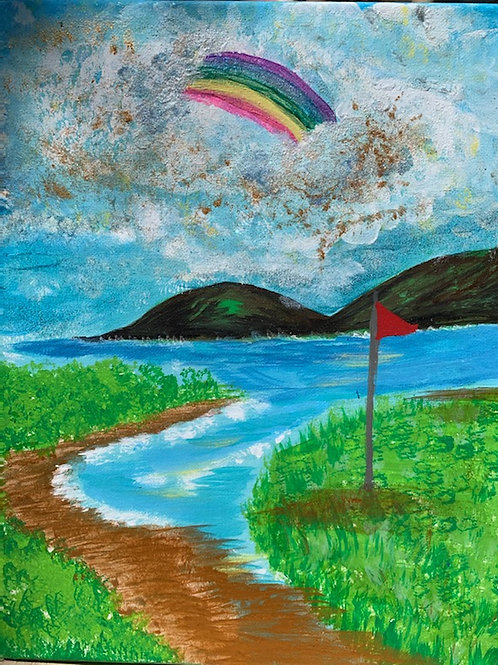 Rainbow While Golfing