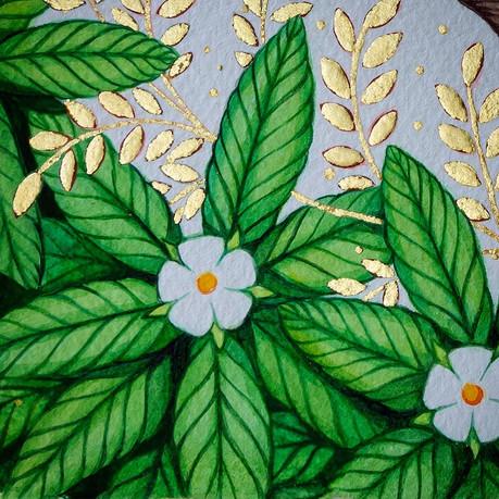 Filigree gold leaf