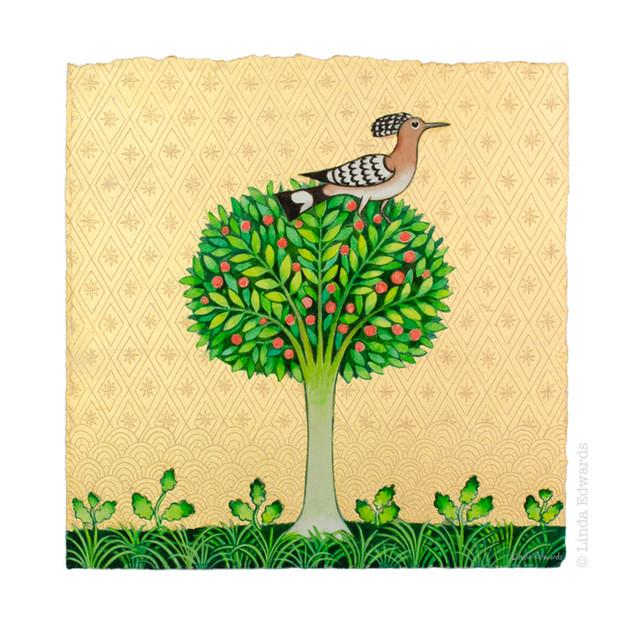 Hoopoe in Apple Tree SOLD
