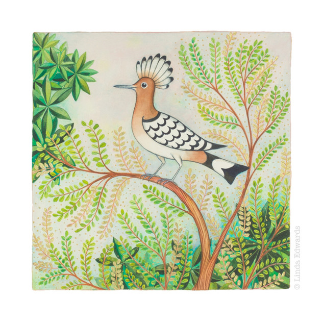 Hoopoe in Acacia SOLD