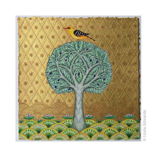 Olive Tree and Golden Oriole SOLD
