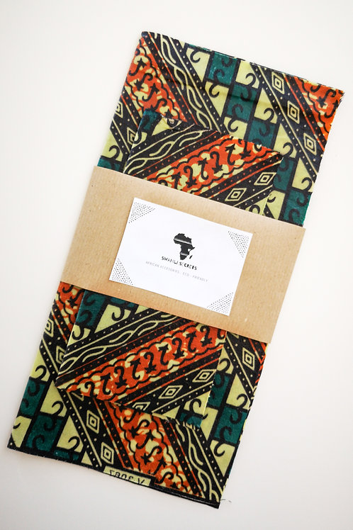 2 pack - African Inspired Beeswax Wraps