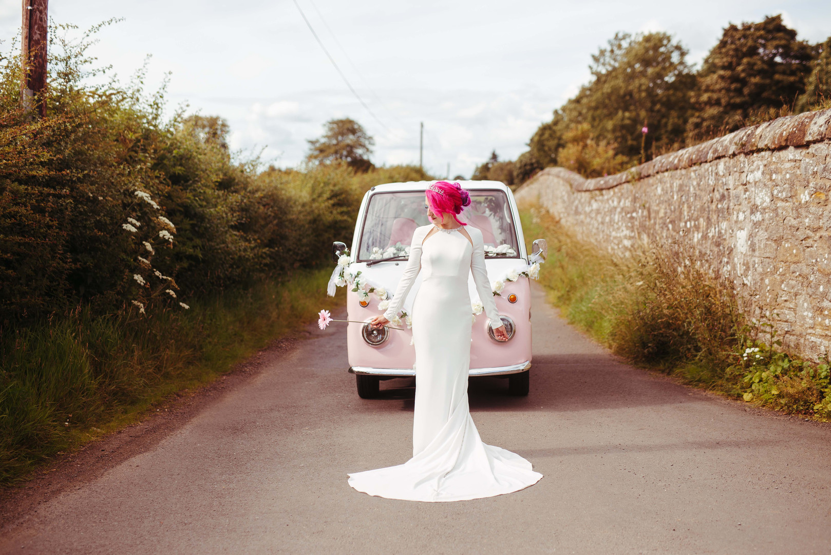 An alternative wedding photo-shoot in Edinburgh, Scotland.