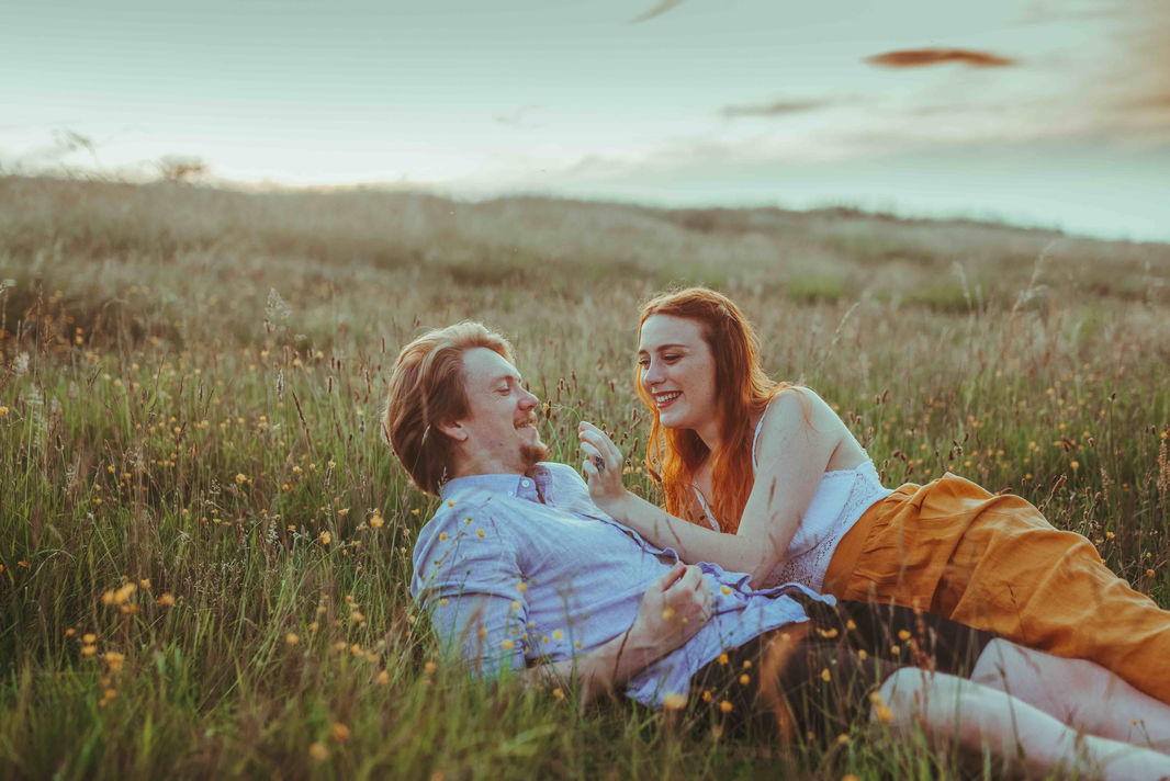 Romantic engagement in Edinburgh, Scotland