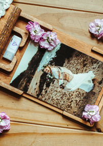 Wedding Pictures in a handcrafted wooden box