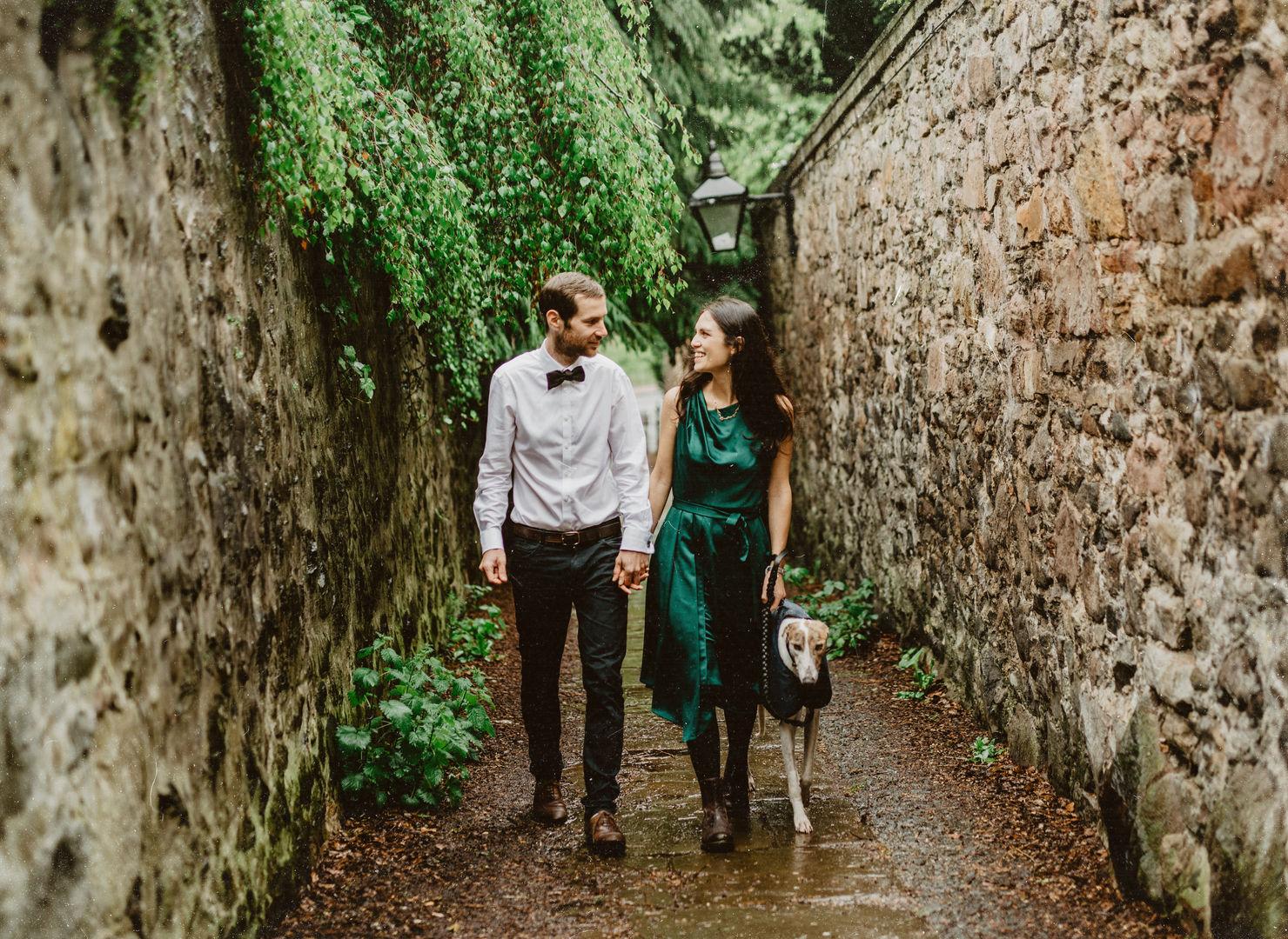 Rainy Walk through Edinburgh