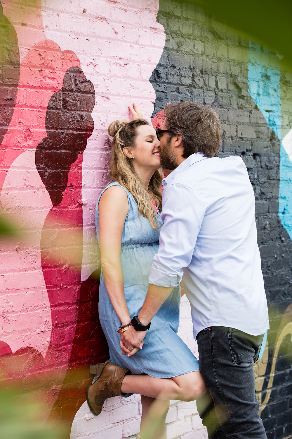 colorful maternity portrait sessions