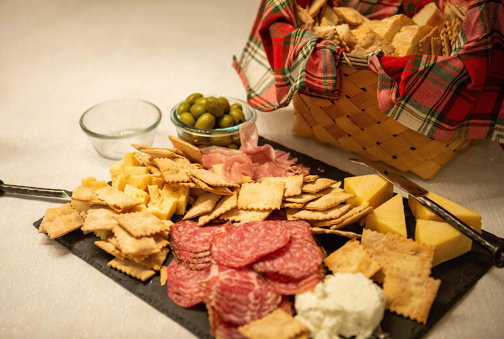 charcuterie board, holiday mini client offerings