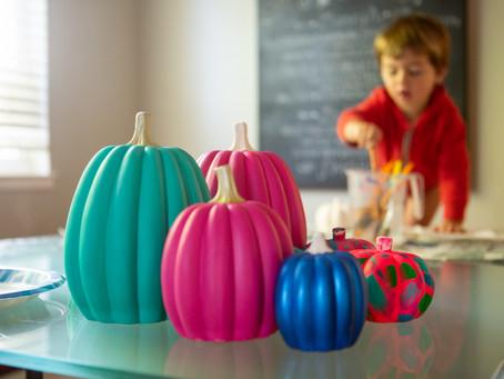 Easy Painted Pumpkin Idea – No Carve Halloween Pumpkin Painting