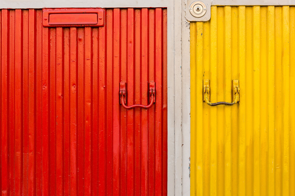 colorful doors, Lisbon, Portugal