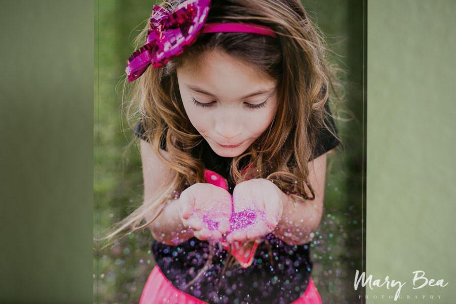 valentines pink sparkling little girl
