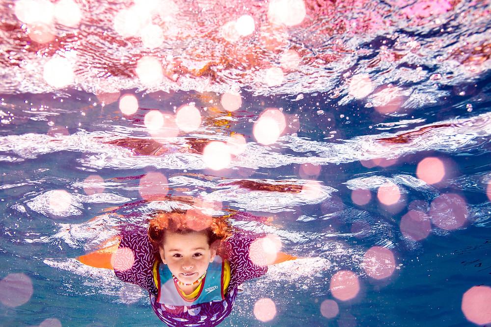 bokeh, underwater bokeh, underwater colorway