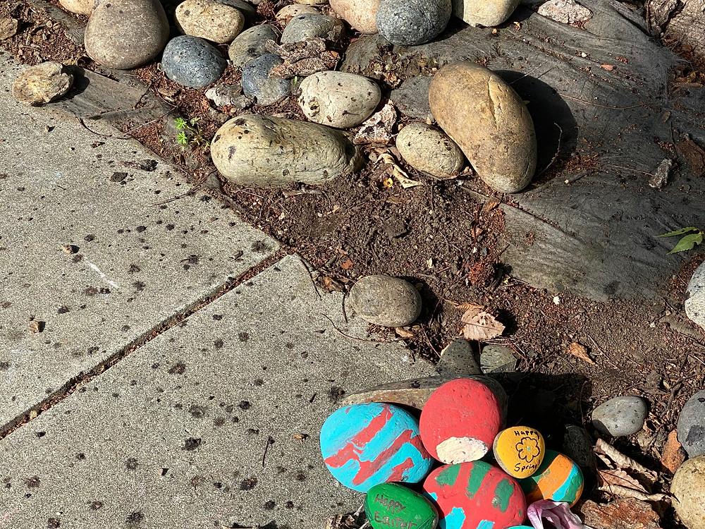 painted rocks, San Jose neighborhood project