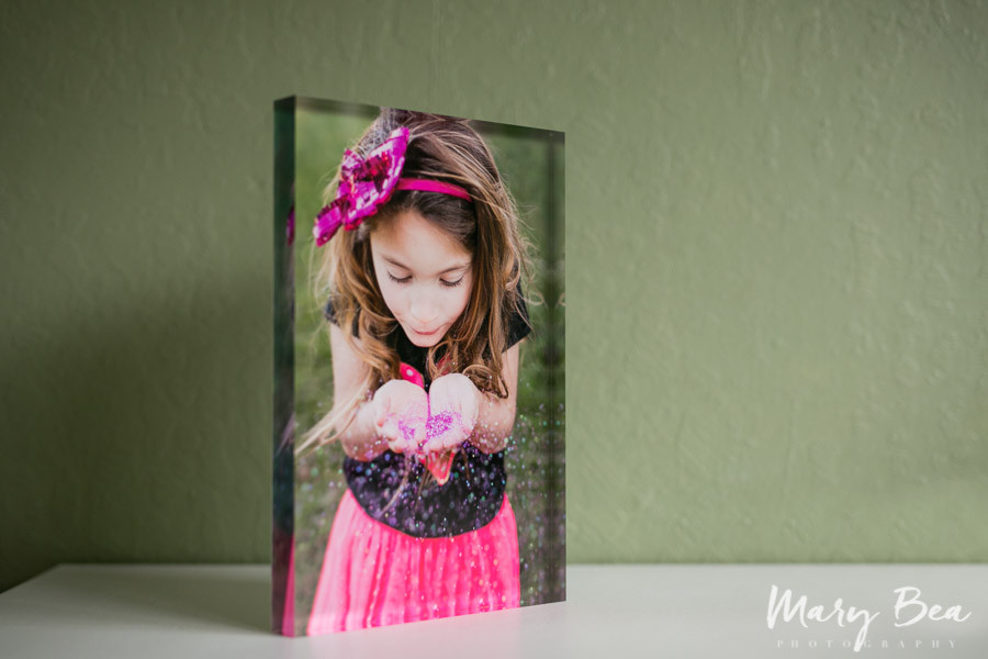 sparkly little girl acrylic print