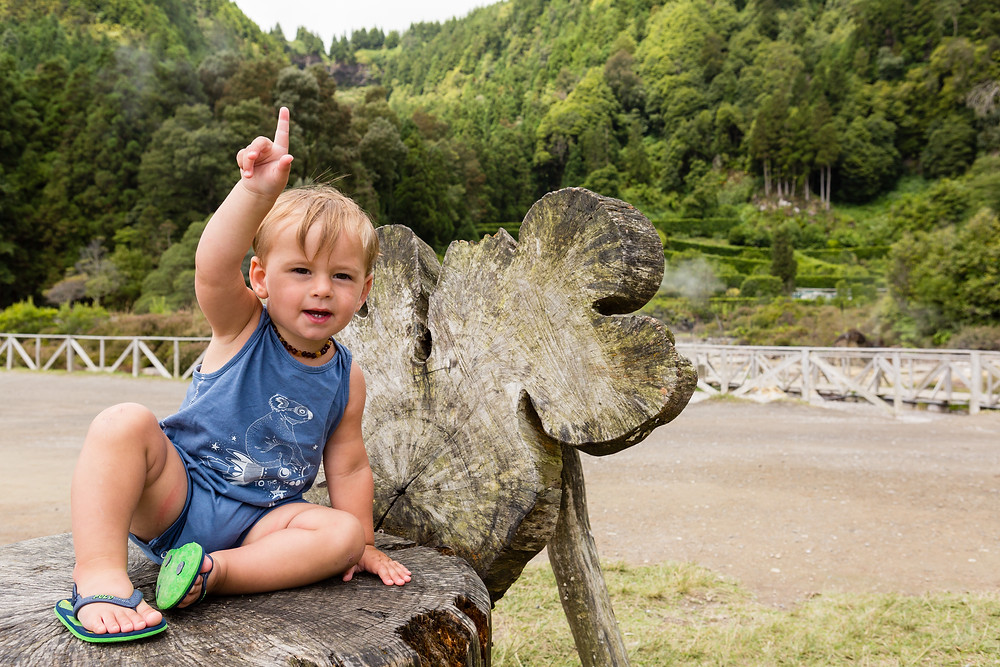 Azores Portugal with a toddler
