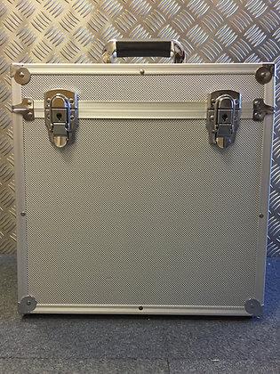 """12"""" Silver or Black Aluminium Record Case 50 Size"""
