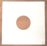 """12"""" White Card Record Sleeves (Discobags)"""