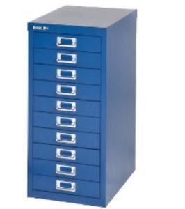 Bisley 10 Drawer filing Cabinet - Blue