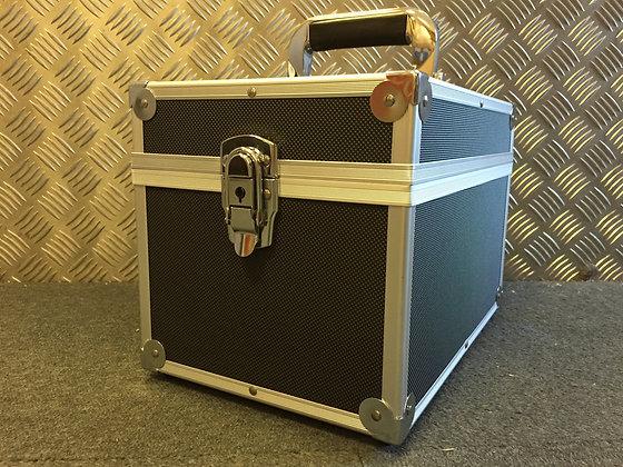 """7"""" Silver or Black Aluminium Record Case 100 Size"""