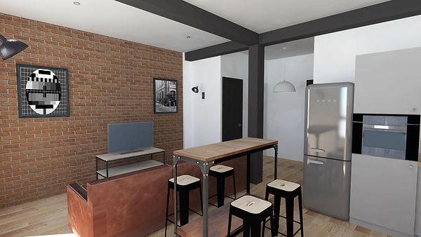 architecture d'intérieur marseille appartement endoume vue mer dans un style industriel