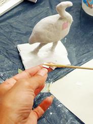 Arbeiten mit Pappmaché