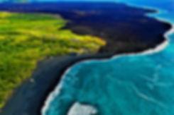 New pohoiki beach on Big Island Hawaii.