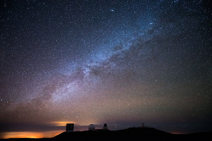 Stars above Mauna Loa representing akashic readings form Hawaii