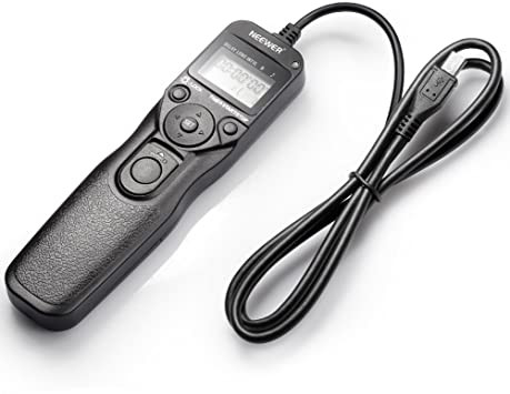 Neewer Wired Camera Shutter Release - Intervalometer - For self shot portraits and timelapse photography