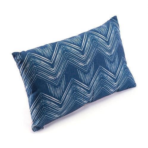 Blue & Natural Bolster Pillow