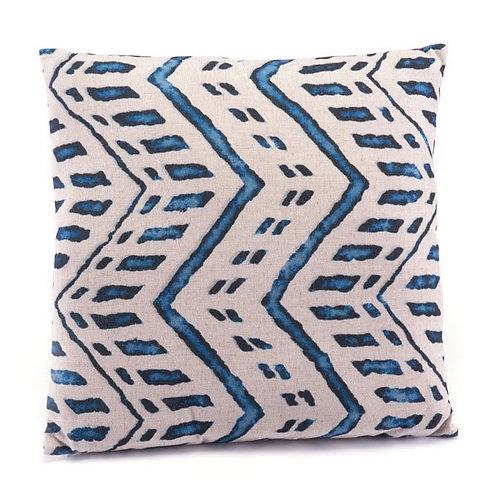 Blue & Natural Square Pillow