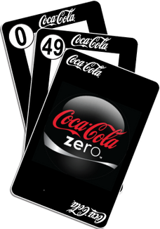 NU RE-BRAND: COKE ZERO-49 PLAYING CARDS
