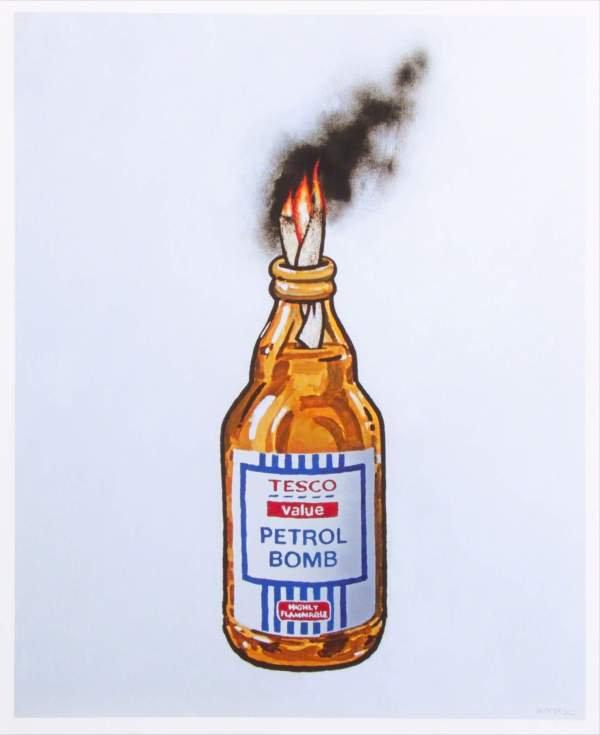 Banksy-Tesco-Petrol-Bomb-lithograph-prin
